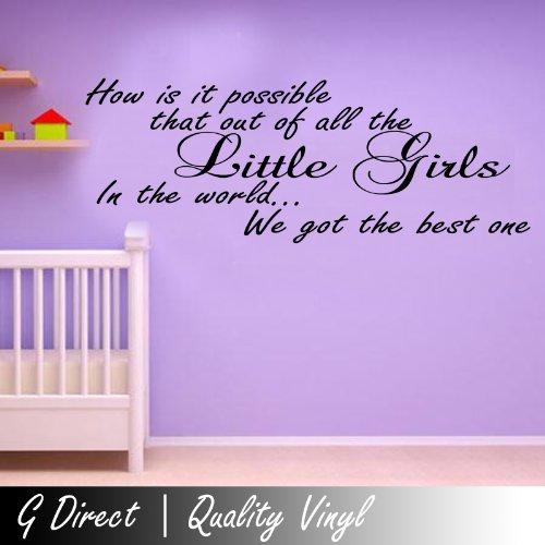 How Is It Possible Girls Wall Nursey Sticker Vinyl Decal Mural Bedroom Transfer 100X55 front-657511