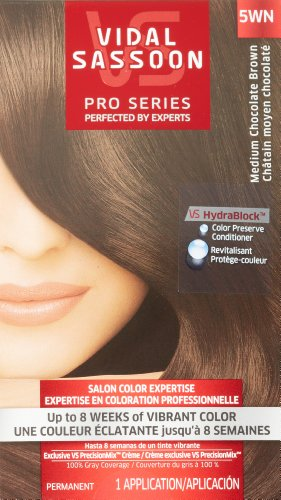 Vidal Sassoon Pro Series Hair Color, 5WN Medium Chocolate Brown, 1 Kit (Chocolate Color Hair Dye compare prices)