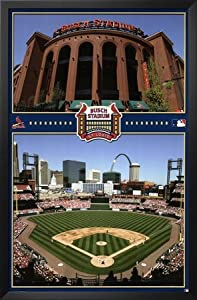 Professionally Framed St. Louis Cardinals (New Busch Stadium III) Sports Poster Print... by Poster Revolution