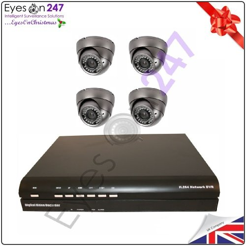 4 x 600tvl Varifocal Camera CCTV Security System For Home  &  Business. 500GB HDD. DIY. + 1 YEAR WARRANTY