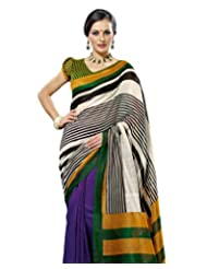 Prafful Silk Bhagalpuri Printed Saree With Unstitched Blouse - B00KNUF4TY