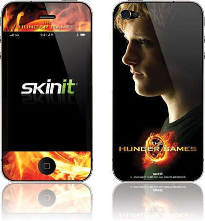 Skinit The Hunger Games -Peeta Mellark Vinyl Skin for Apple iPhone 4 / 4S
