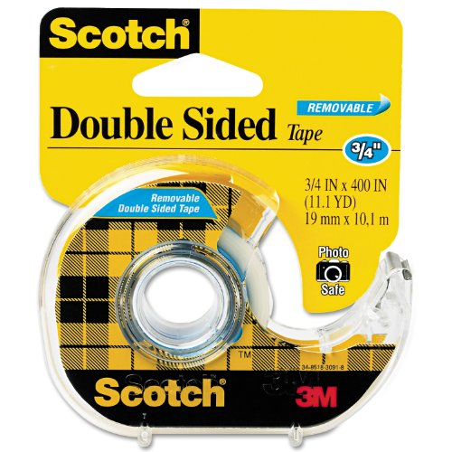 Scotchâ® Removable Doublesided Tape 3/4 Inch X 400 Inches Dispenser (667)