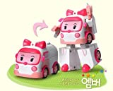 KOREAN TOY_ Academy of Sciences, Robocar POLI transforming robot AMBER [001KR]