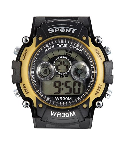 PHOENIXBIRDS Digital Seven Light Sport Watches In Yellow Colors Its new Collection For Boys