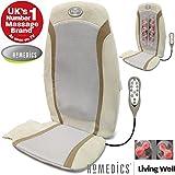 HoMedics® Luxury Gel Shiatsu Heat Back Relaxing Massage Chair Seat Cushion with Technogel & Remote Control (Multi Function)
