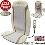 HoMedics® Luxury Gel Shiatsu Heat Back Relaxing Massage Chair Seat Cushion with Technogel & Remote Control (Multi Function)