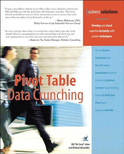 Pivot Table Data Crunching (Adobe Reader) (Business Solutions), by Michael Alexander, Bill Jelen