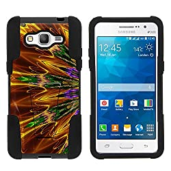 Galaxy Grand Prime Case, Durable Hybrid STRIKE Impact Kickstand Case with Art Pattern Designs for Samsung Galaxy Grand Prime SM-G530H, SM-G530F, SM-G530AZ (Cricket) from MINITURTLE | Includes Clear Screen Protector and Stylus Pen - Kaleidoscopic Phoenix