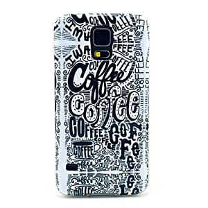 Amazon.com: QHY Coffee Letter Graffiti Pattern TPU Soft Case Cover for
