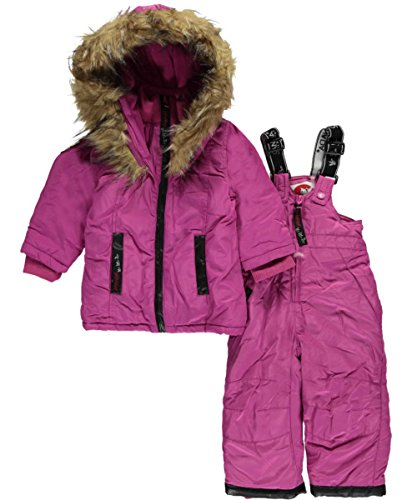 canada-weather-gear-baby-girls-luxe-trim-2-piece-snowsuit-rose-violet-24-months