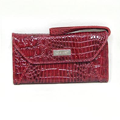 Nine West Croc Rock Checkbook Wristlet (Red)