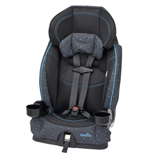 Lowest Prices! Evenflo Chase LX Harnessed Booster Car Seat, Aqua Optical