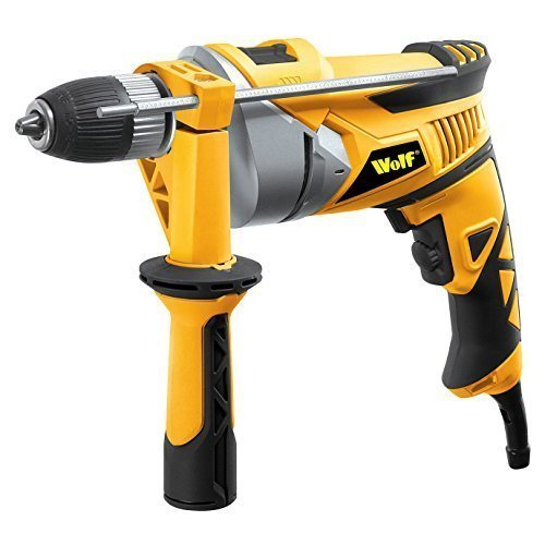 518QSdsSy6L - BEST BUY #1 Wolf 710 Watt Impact Hammer Drill 240v, 13mm (1/2) Automatic Keyless Chuck with Impact Rate of 41,600bpm, Fitted with Variable Speed Control