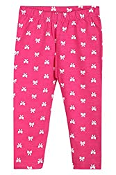 Chirpie Pie by Pantaloons Girl's Regular Fit Legging (205000005610371, Pink, 9 - 12 Months)
