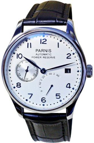 PARNIS Automatik Herrenuhr Modell 2016, mechanische Armbanduhr, SeaGull Uhrwerk, automatischer Aufzug, Herrenuhr, Edelstahl, Lederarmband, von LIV MORRIS