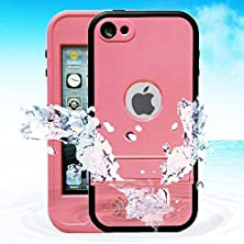 buy Wonfast® Waterproof Shockproof Dirt Proof Snow Proof Heavy Duty Armor Defender Protective Case Cover For Apple Ipod Touch 5 (Pink)