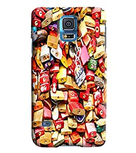 Blue Throat Variety Of Locks Printed Designer Back Cover/Case For Samsung Galaxy S5