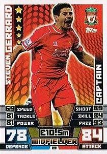 Match Attax Extra 2014/2015 Steven Gerrard (Liverpool) Captain 14/15 by Topps