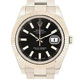 (ロレックス)ROLEX 腕時計 デイトジャスト2 116334 750WG×SS ブラック 新品仕上げ OH済 メンズ 中古