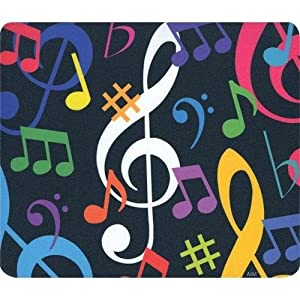 Mouse Pad Music Notes - Multi Color