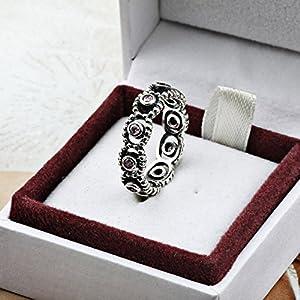 TAOTAOHAS Silver 925 銀 ヨーロピアンスタイルの 恋人婚約指輪 宗教のテーマ 16号[女王陛下, ライトローズ]