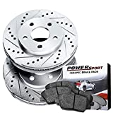 Front Drilled Slotted Brake Rotors and Ceramic Pads 1989-1992 Toyota Cressida