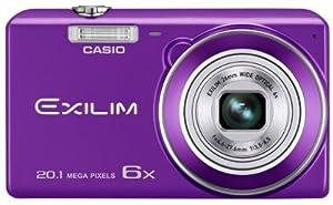 Casio Exilim EX-ZS30PE Digitalkamera (20,1 Megapixel, 6,9 cm (2,7 Zoll) Display, 6-fach opt. Zoom, Premium Auto, Gesichtserkennung-Funktion) violett