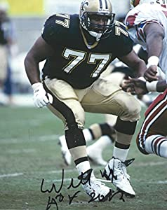 Willie Roaf, New Orleans Saints, Hall of Fame, Signed, Autographed, 8x10 Photo, Coa, Rare Hard Photo to Find