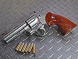 コクサイ 発火モデルガン コルトパイソン 357マグナム スーパーステンレス ウッディグリップ 4インチ No.363