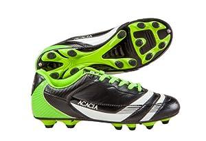 ACACIA Thunder Soccer Shoes, Black/Lime, 1