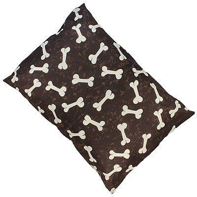 Linens Limited Bones Dog Pet Bed, Brown, Large