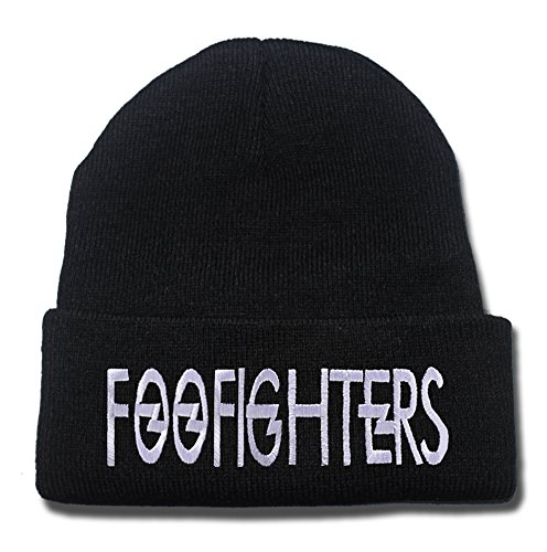 Foo Fighters Band Logo Beanie Fashion Unisex Embroidery Beanies Skullies Knitted Hats Skull Caps