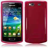 Pink Tpu Gel Case Cover For Samsung Wave 3 S8600 PART OF THE QUBITS ACCESSORIES RANGEby TERRAPIN