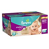 Pampers Cruisers Diapers Economy Plus Pack, Size 3, 174 Count