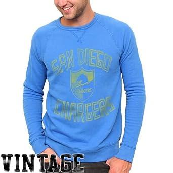 NFL San Diego Chargers Fleece Crew Sweatshirt - Light Blue by Junk Food