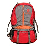 Gleam 2209 Climate Proof Rucksack / Hiking / Trekking Bag / Backpack 60 Ltrs Red & Grey With Laptop Sleeve & Rain...