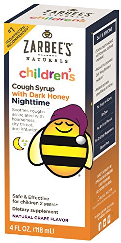 Zarbee's Naturals Children's Cough Syrup with Dark Honey Nighttime - Grape, 4 Ounces (Natural Cough Syrup compare prices)