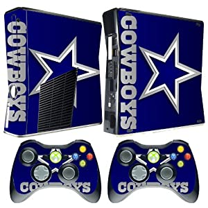 meestick dallas cowboys vinyl adhesive decal skin for xbox 360 slim video games. Black Bedroom Furniture Sets. Home Design Ideas