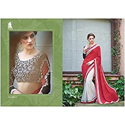 Sahiba Women's Georgette SAREE with Fancy Fabrics (SS_22_Pack of 1_Large)