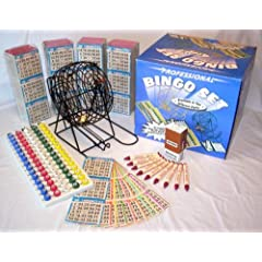 Complete Bingo Game Kit with Professional Bingo Cage, Balls, Paper, No-mess Crayola... by Gaming Concepts High-Value Bundled Packages!