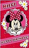 Minnie Mouse Birthday Card - Niece