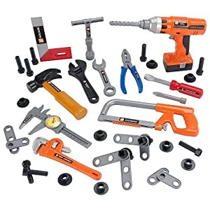 the home depot 45 piece power tool set toys games. Black Bedroom Furniture Sets. Home Design Ideas