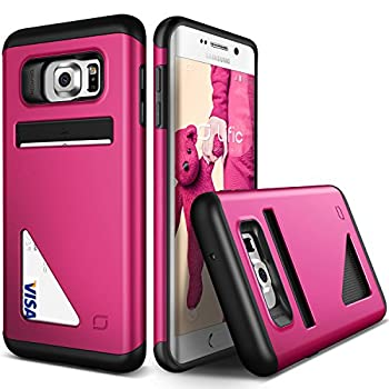Lific [Mighty Card Defense][Hot Pink] - [Card Slot][Heavy Duty][Wallet][Slim Fit] - For Samsung Galaxy S6 Edge+