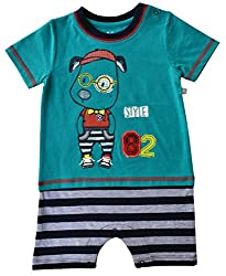 Babeez Baby Boy Yarn Dyed T - Romper (100% Cotton) to fit height 68 - 74cms