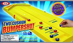 POOF-Slinky 34211BL Ideal Two Cushion Bumpershot Shuffleboard Tabletop Game by Ideal TOY (English Manual)