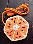 QOCOO 6ft Cord Creative Fruit Hexagon...