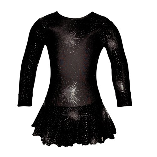 Starlite Black Icicle Skating Dress 8 - 9 Years