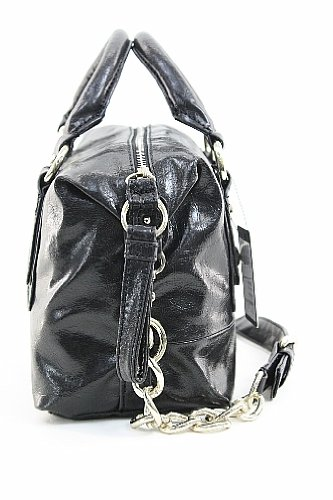 Guess Maude Box Bag Black Handbag Vinyl Purse VY251519