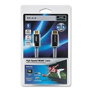 Belkinamp;reg; - HDMI 3D Ready Cable, 6 ft, Black - Sold As 1 Each - 3D-ready. by Belkin
